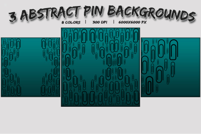 3 Abstract Pin Backgrounds