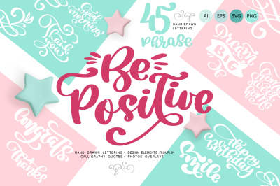 Positive greeting quotes and flourish