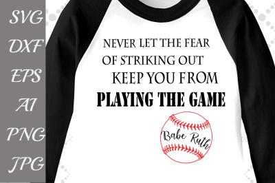 Baseball Svg:
