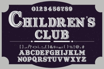 vintage alphabet Typeface handcrafted vector label design club
