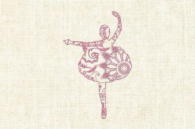 Mandala ballerina SVG DXF EPS PNG AI