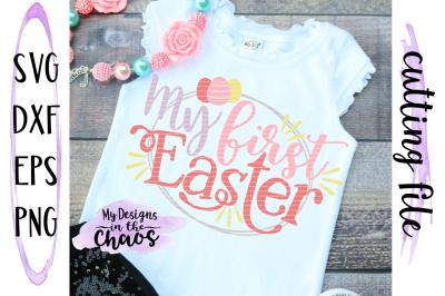 First Easter SVG | GIrl First Easter SVG | Easter SVG | Silhouette