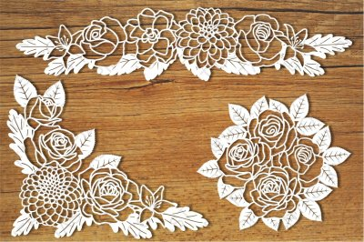 Floral Decorations SVG files for Silhouette Cameo and Cricut.