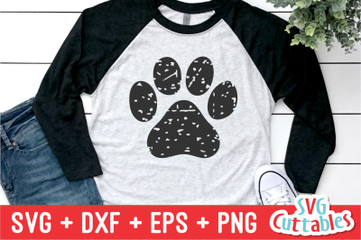 Distressed Paw Print
