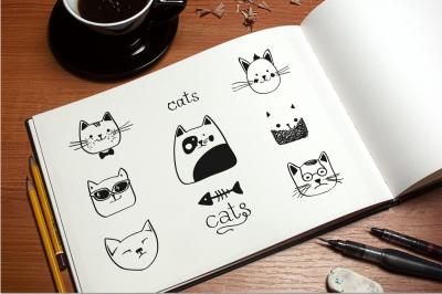 Cats Vector Set
