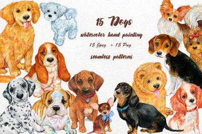 Dogs watercolor