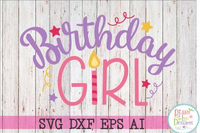 Birthday Girl SVG DXF EPS AI - Cutting File