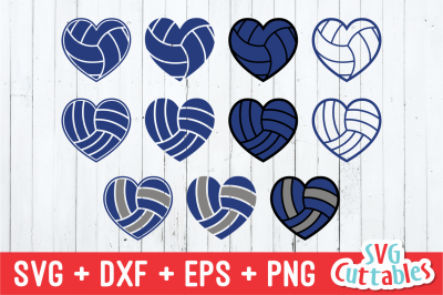 Volleyball Heart Collection