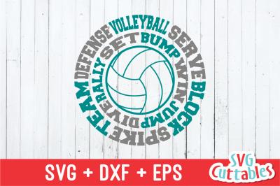 Volleyball Round Subway Art