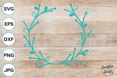 Laurel Wreath Cut File