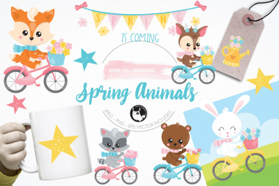 Spring is Coming graphics and illustrations