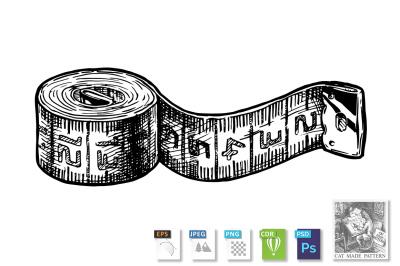 illustration of tape measure