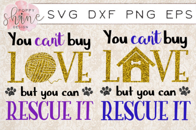 Pet Rescue Bundle of 2 SVG PNG EPS DXF Cutting Files