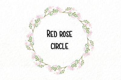 red rose circle
