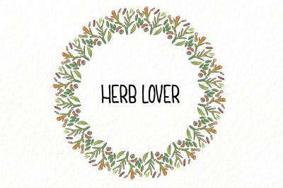 Herb circle pattern