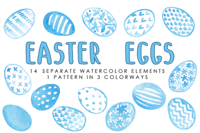 EASTER EGGS - Watercolor Pack
