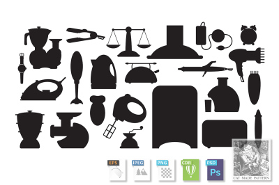household appliance Icons set