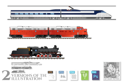 Evolution set of trains