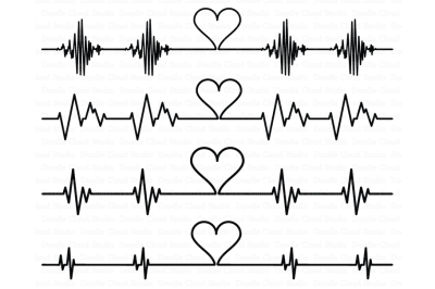 Cardio Heart SVG, Heartbeat SVG files