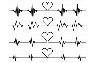 Cardio Heart SVG, Heartbeat SVG files