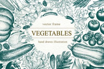 Vegetable Vector Frame