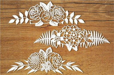 Floral Decorations set 2 SVG files for Silhouette Cameo and Cricut.