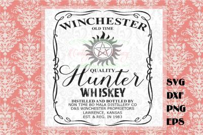 Winchester Whiskey SVG