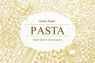 Pasta Vector Frame