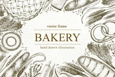 Bakery Vector Frame