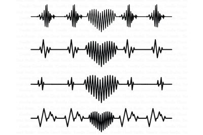 Heartbeat SVG, Heart svg, Cardiogram Heart SVG, Heart beat svg files