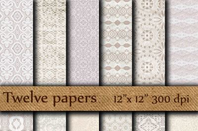 Lace Digital Papers