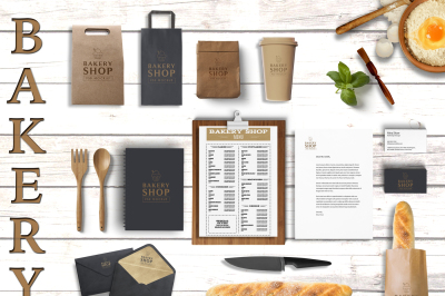 Mockup - Bakery Branding