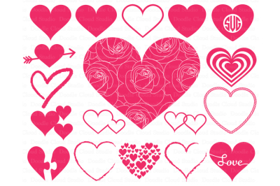 Heart svg, Heart Monogram SVG files for Silhouette Cameo and Cricut.