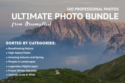 Ultimate Photo Bundle 2017 – 500+ Stock Images