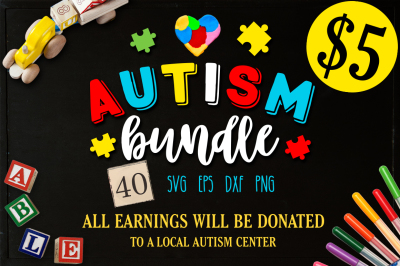 Autism Bundle - 40 autism SVG - Autism awareness