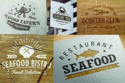 Seafood logotype templates