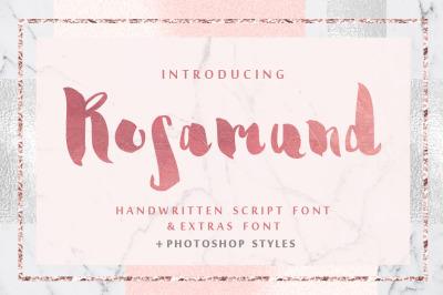 Rosamund script & Extras + PS Styles