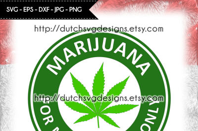 Marijuana cutting file, for Cricut & Silhouette, pot svg, weed svg