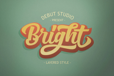 Bright Script LAYERED FONT (30% OFF)