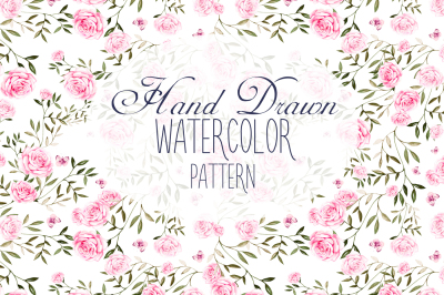 13 Hand drawn watercolor patterns