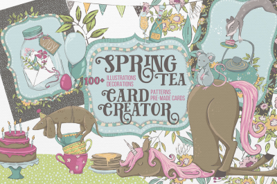 Spring Tea Card Creator