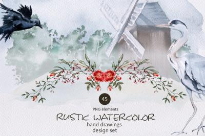 Rustic watercolor