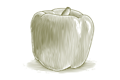 Woodcut Bell Pepper