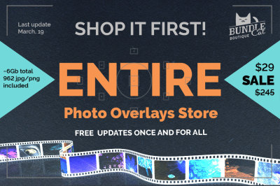 1000+ Photo Overlays Bundle+FREE UPD