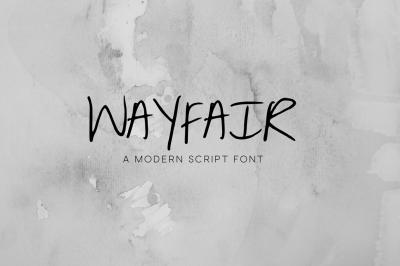 Wayfair - A Modern Script Font