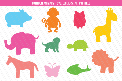 Baby/ Zoo Animals svg dxf cutting files