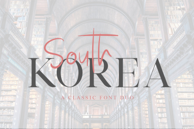 South Korea - Font Duo