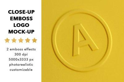 Close-up logo mock up