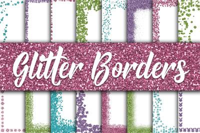 Easter Glitter Borders Digital Paper