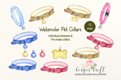 Watercolor Pet Collars